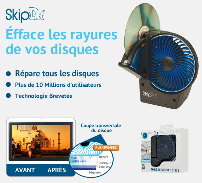 SKIPDR REPAIR - RÉPARATION DE CD/DVD - MOTORISÉ