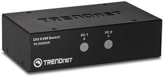 TK-222DVK - Blanc KVM 2 ports DVI/USB/Audio