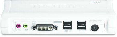 TRENDNET TK-204UK - KVM 2 ports DVI - USB + Audio + 2 cables inclus -
