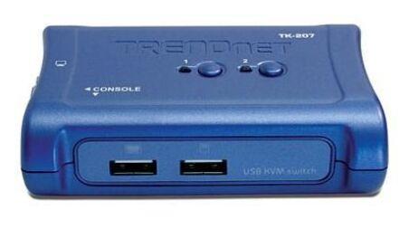 TRENDnet TK-207K - KVM 2 ports VGA - USB + 2 cables inclus ¬