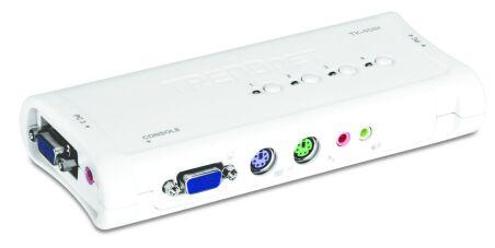 TRENDnet TK-408K - KVM 4 Ports VGA - PS/2 + Audio + cables