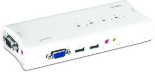 TRENDnet TK-409K - KVM 4 ports VGA - USB + Audio + cables