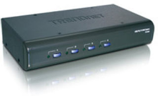 TRENDnet TK-423K - KVM 4 ports VGA - USB & PS/2 + Audio + cables